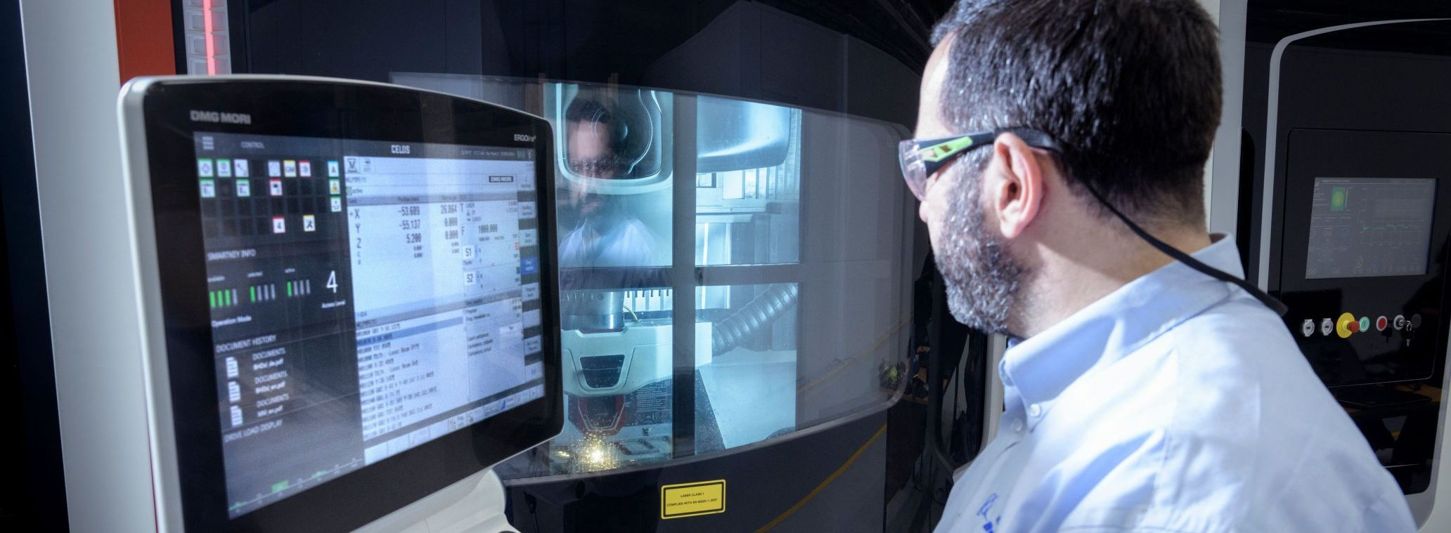 Employee working with machinery