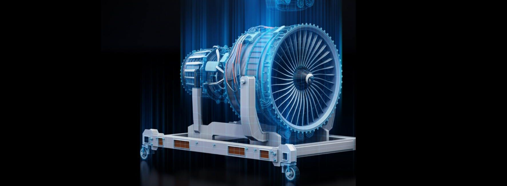 Picture of a piece of machinery using a blueprint effect
